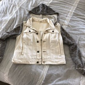 Freepeople White Jean Jacket